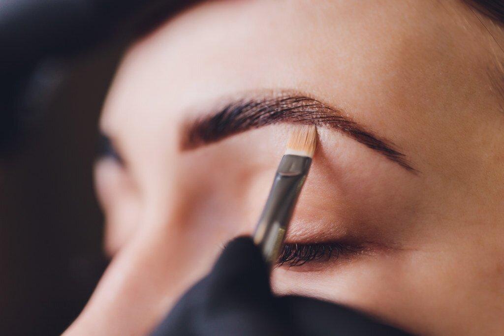 Henna brwi i rzęs - efekt